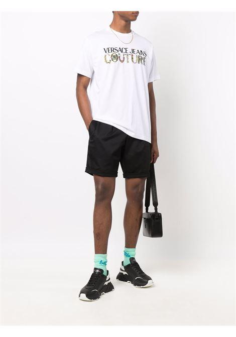T-shirt bianca VERSACE JEANS COUTURE | T-SHIRT | 71GAHF04CJ00F71UP601003