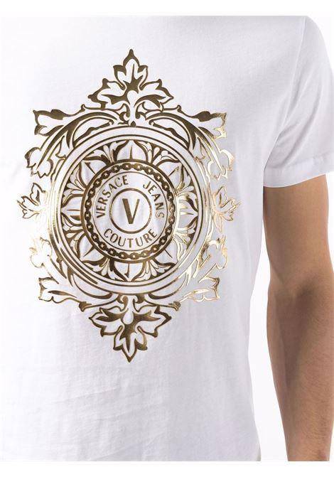 T-shirt bianca VERSACE JEANS COUTURE | T-SHIRT | 71GAHF05CJ00F71UP600G03