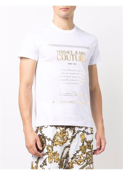 T-shirt bianca VERSACE JEANS COUTURE | T-SHIRT | 71GAHT01CJ00T71UP600G03