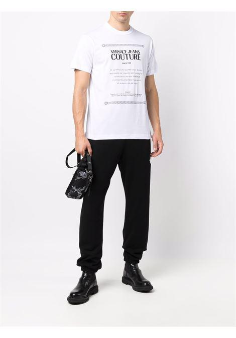 T-shirt bianca VERSACE JEANS COUTURE | T-SHIRT | 71GAHT02CJ00T71UP601003