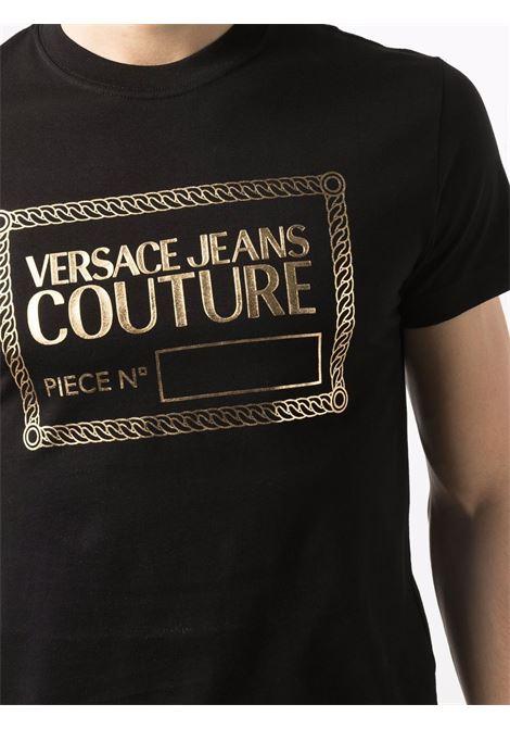T-shirt nera VERSACE JEANS COUTURE | T-SHIRT | 71GAHT27CJ00T71UP600G89