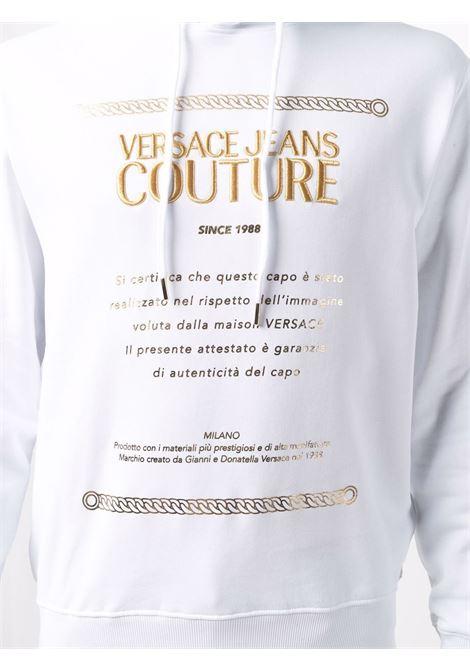Felpa bianca VERSACE JEANS COUTURE | FELPE | 71GAIT10CF00T71UP306G03