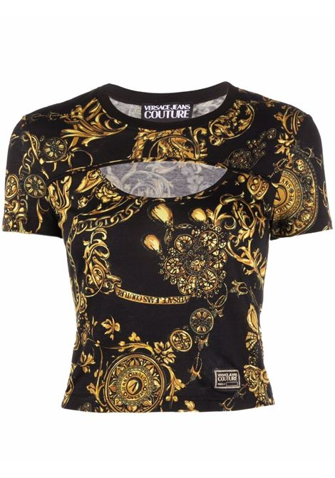 T-shirt nera VERSACE JEANS COUTURE | 71HAH604JS01571DP604G89