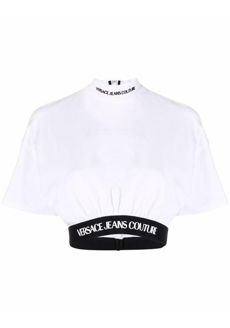 T-shirt bianca VERSACE JEANS COUTURE | T-SHIRT | 71HAH6A9J001271DP609003
