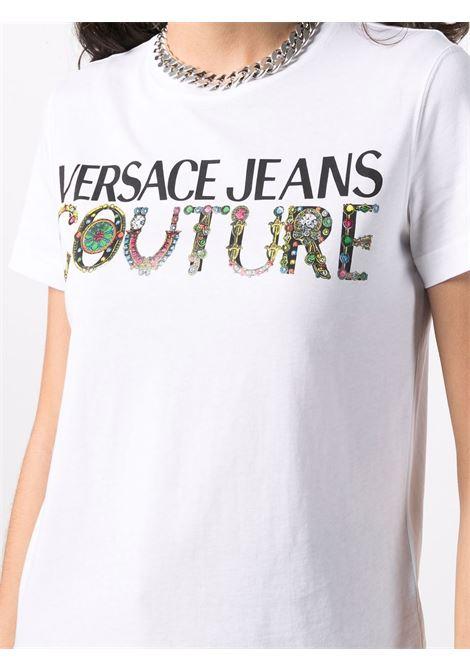 T-shirt bianca VERSACE JEANS COUTURE | T-SHIRT | 71HAHF03CJ00F71DP613003