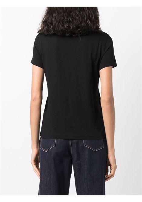 T-shirt nera VERSACE JEANS COUTURE | T-SHIRT | 71HAHF03CJ00F71DP613899