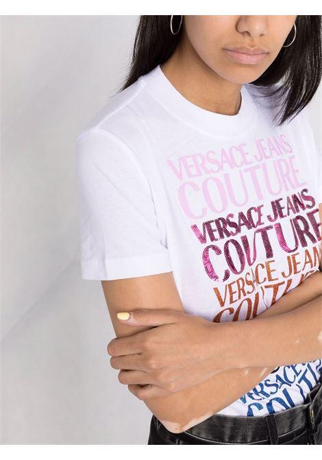 T-shirt bianca VERSACE JEANS COUTURE | T-SHIRT | 71HAHG01CJ00G71DP613003