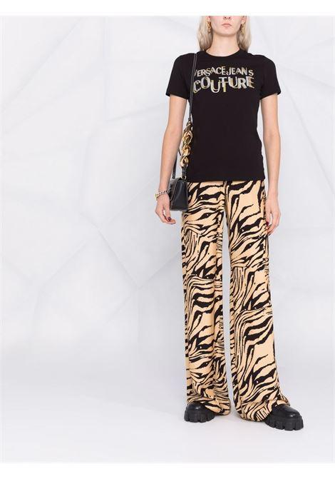 T-shirt nera VERSACE JEANS COUTURE | T-SHIRT | 71HAHT02CJ00T71DP608G89