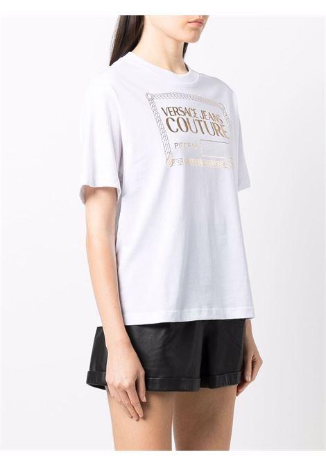 T-shirt bianca VERSACE JEANS COUTURE | T-SHIRT | 71HAHT13CJ00T71DP614G03