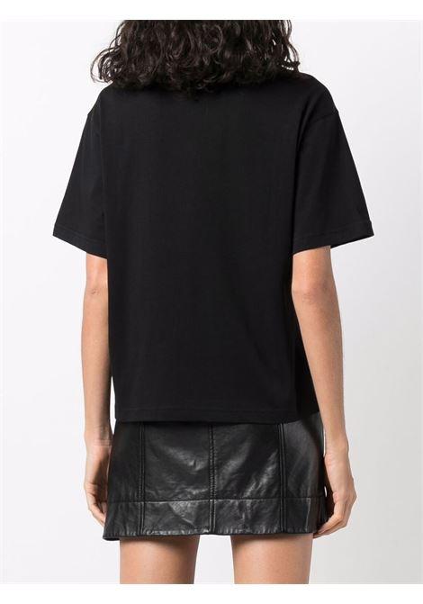 T-shirt nera VERSACE JEANS COUTURE | 71HAHT13CJ00T71DP614G89