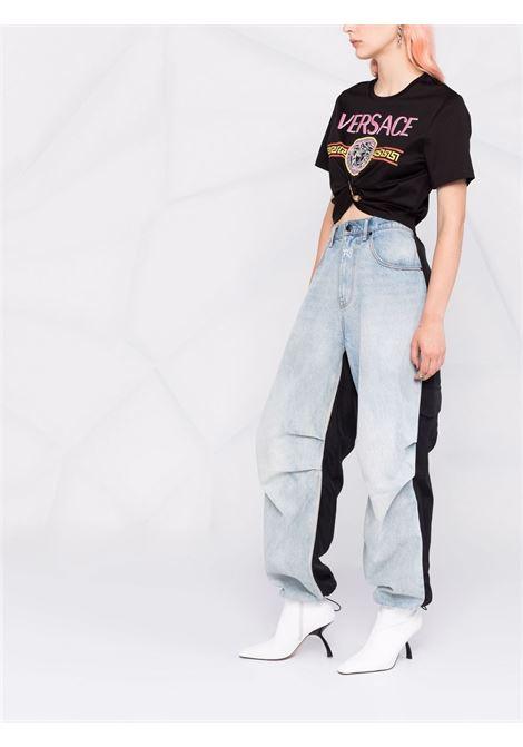 Black t-shirt VERSACE | 10010071A007692B070