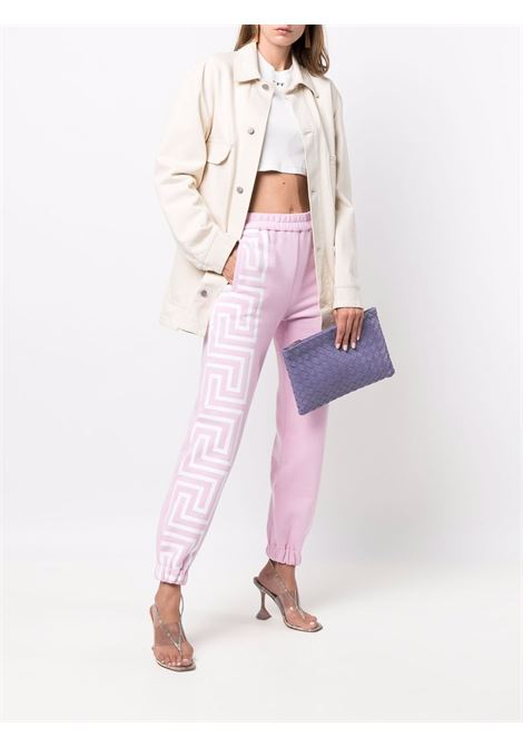 Pink track pants VERSACE | TROUSERS | 10010531A011742P100