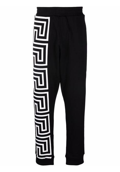 Pantalone nero/bianco VERSACE | 10010851A007201B000