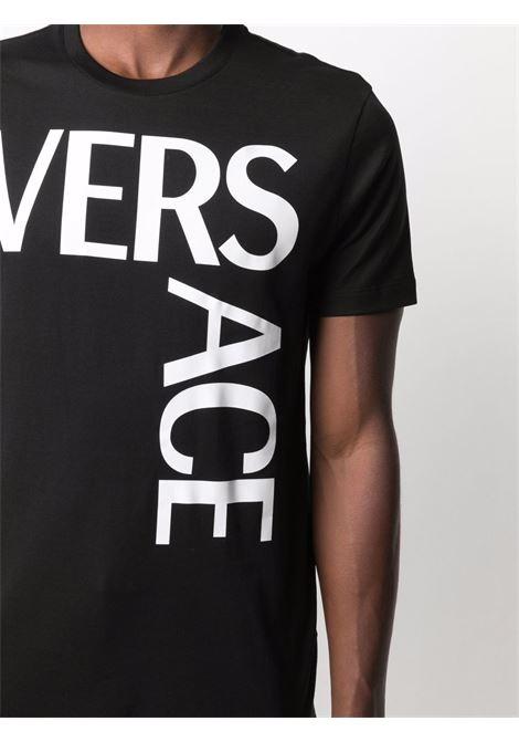 T-shirt bianco/nera VERSACE | 10012881A009221B000