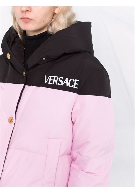 Pink/black padded jacket VERSACE | JACKETS | 10013971A009742B140
