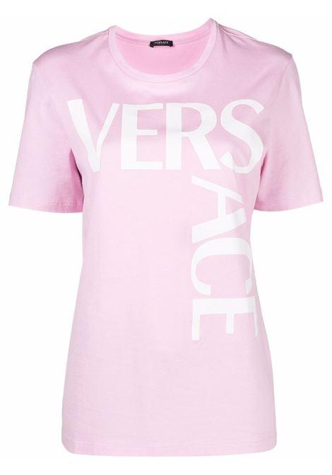 Pink/white t-shirt VERSACE | 10015301A006032P100