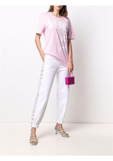 Pink/white t-shirt VERSACE | T-SHIRT | 10015301A006032P100