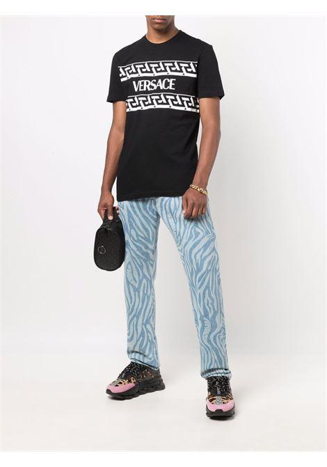 T-shirt nera VERSACE   T-SHIRT   10024281A017801B000