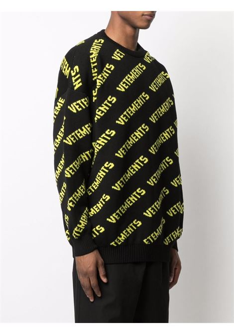 Black/ yellow jumper VETEMENTS | UA52KN600B2901BNY