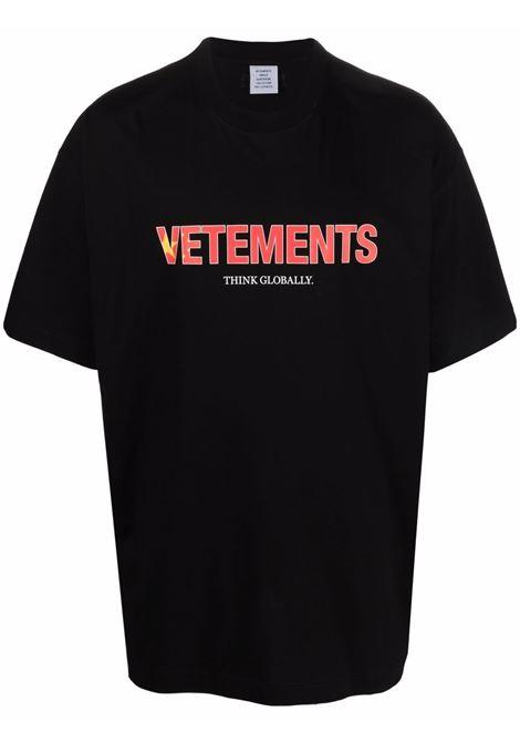 Black t-shirt VETEMENTS | UA52TR280C1611BLACK