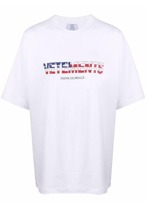 White t-shirt VETEMENTS | UA52TR290A1611WHITE