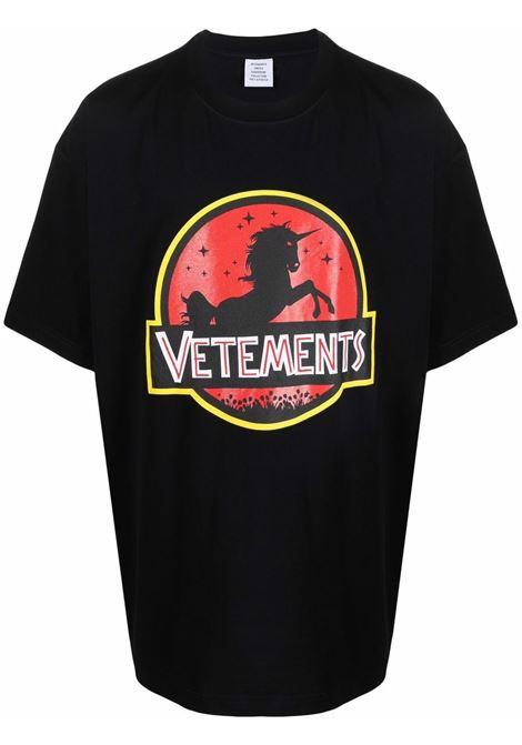 Black t-shirt VETEMENTS | UA52TR320B1602BLACK