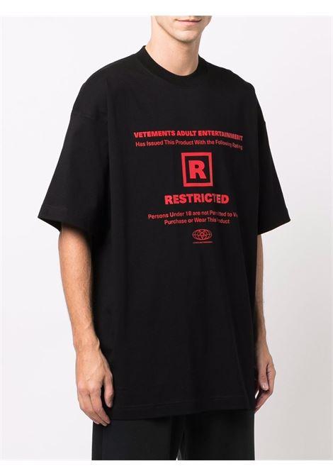 T-shirt VETEMENTS | UA52TR390B1611BLACK