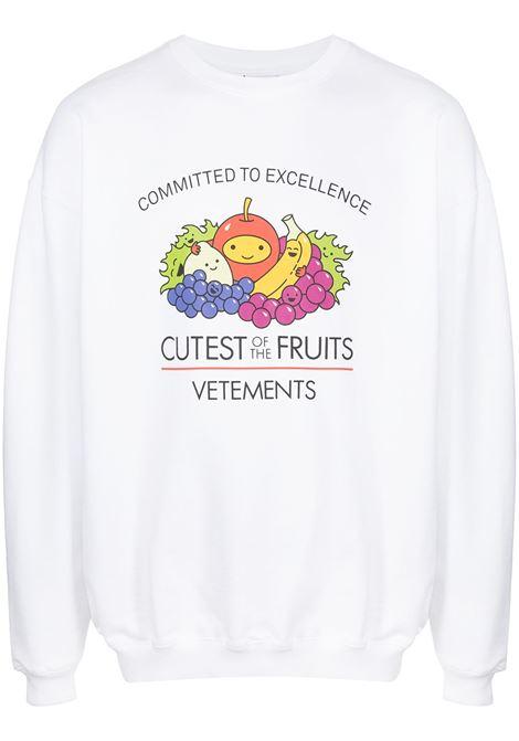White sweatshirt VETEMENTS | UA52TR690W1605WHITE