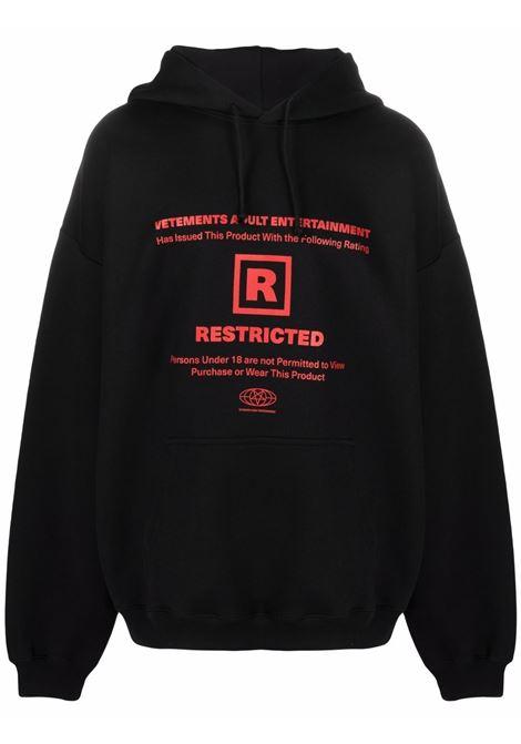 Black/red sweatshirt VETEMENTS | UA52TR720B1605BLACK