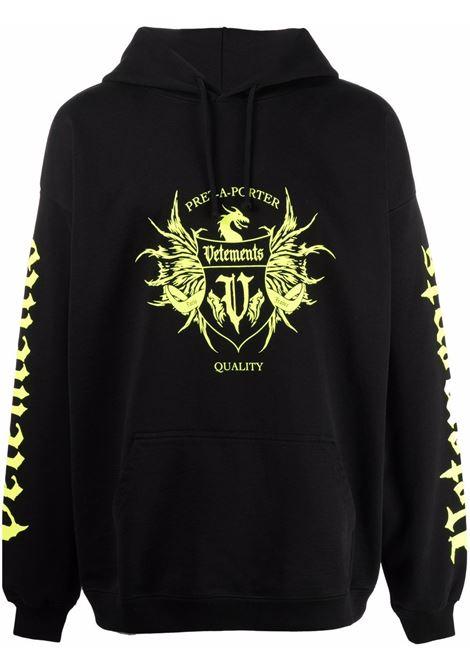 Black sweatshirt VETEMENTS | UA52TR900X1606BNY