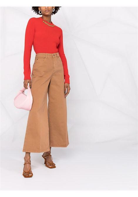 Pantalone marrone VICTORIA BECKHAM | PANTALONI | 2321WTR002890ACINNAMONBROWN