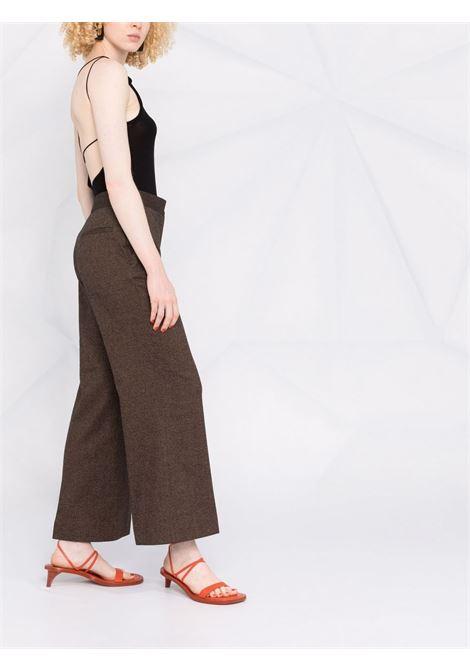 Pantalone marrone VICTORIA BECKHAM | PANTALONI | 2321WTR002957ATOFFEEBROWN