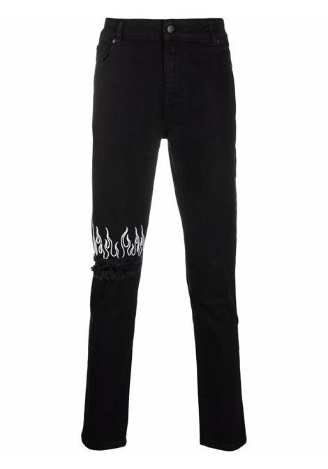 Black jeans VISION OF SUPER | VOSB17WHITEFLBLACK