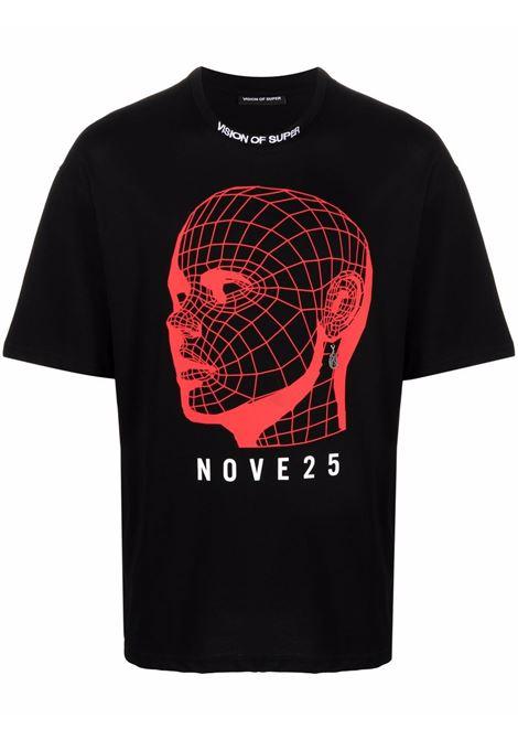 Black t-shirt VISION OF SUPER | VOSB1925REDBLACK