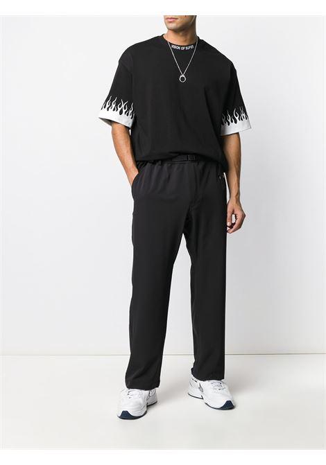 Black t-shirt VISION OF SUPER | VOSB1FLWHITEBLACK