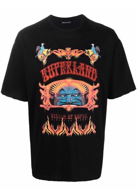Black t-shirt VISION OF SUPER | VOSB1SUPERBLACK