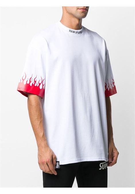 White t-shirt VISION OF SUPER | VOSW1FLREDWHITE