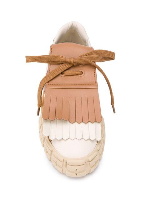 Sneakers con frange PRADA | STRINGATE | PRP01E943LF0353L48_F0J4L