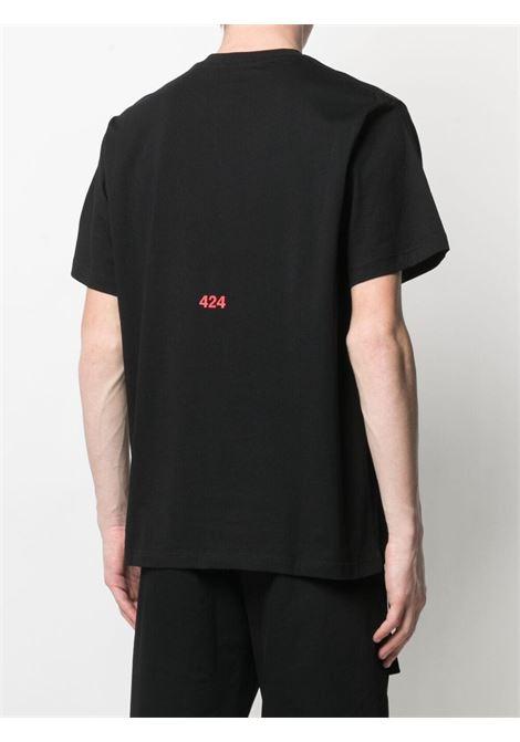 T-shirt nera 424 | T-SHIRT | 30424M10721601899