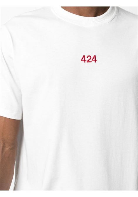 T-shirt bianca 424 | T-SHIRT | 30424M111R21601802