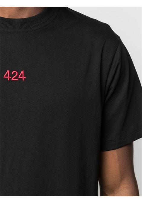 T-shirt nera 424 | T-SHIRT | 30424M111R21601899