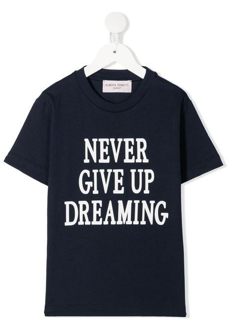 T-shirt blu ALBERTA FERRETTI KIDS | T-SHIRT | 027424060