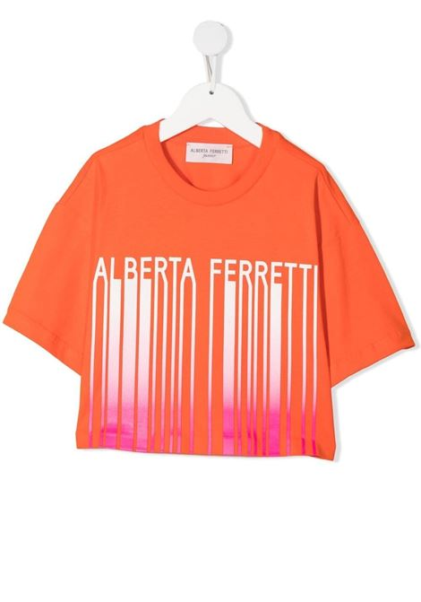 T-shirt arancione ALBERTA FERRETTI KIDS | T-SHIRT | 027437030