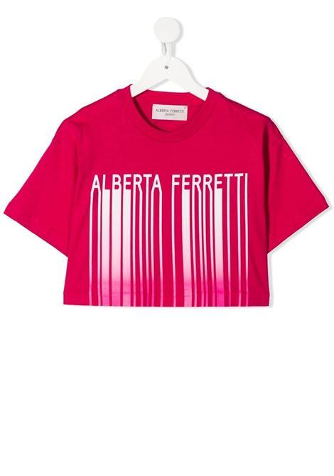 T-shirt fucsia ALBERTA FERRETTI KIDS | T-SHIRT | 027437044