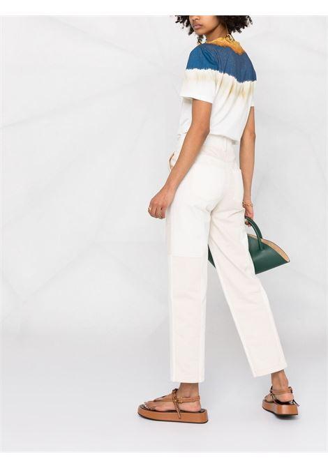 T-shirt bianca/blu/ aranzio ALBERTA FERRETTI | T-SHIRT | J07021831087