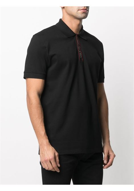 Black Polo shirt ALEXANDER McQUEEN | 642660QQX771000
