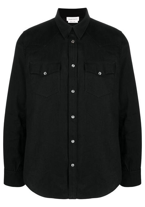 Camicia nera ALEXANDER McQUEEN | CAMICIE | 644906QQY401000
