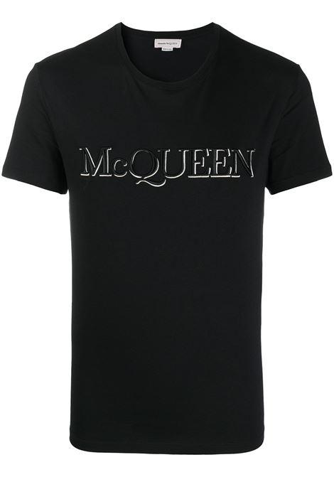 Black t-shirt ALEXANDER McQUEEN | 649876QQZ560901
