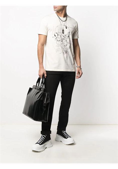 T-shirt bianca ALEXANDER McQUEEN | T-SHIRT | 650405QQZ610906