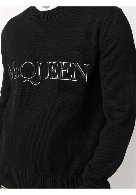 Maglione nero ALEXANDER McQUEEN | PULLOVER | 651184Q1XAY1011